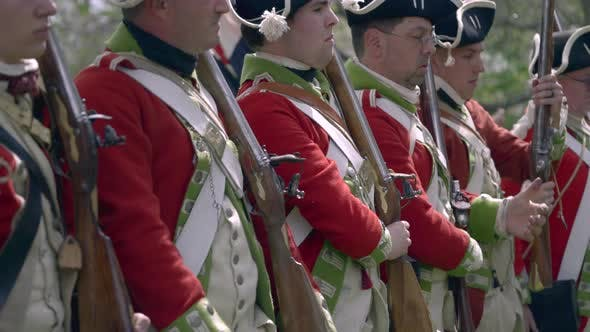 Thumbnail for British Revolutionary War Troops Shoulder Muskets