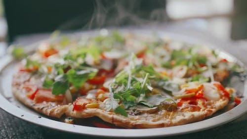 Pizza fraîche et chaude