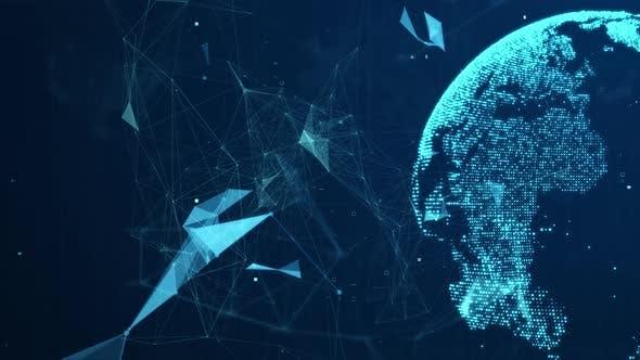Hi Tech Technology Business Background 4K