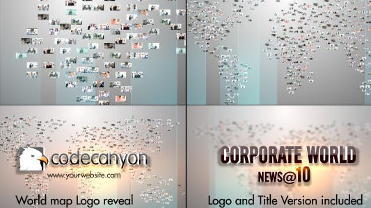 Cover Image for World Map Video Image Logo