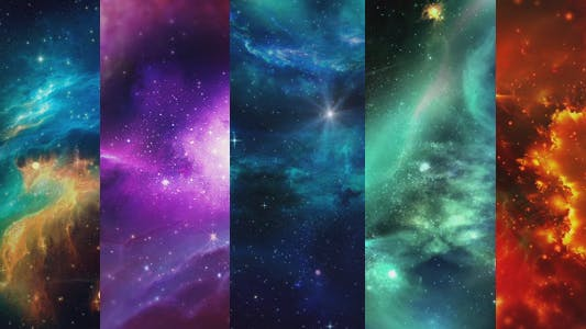 Thumbnail for Space Nebulae Backgrounds Pack