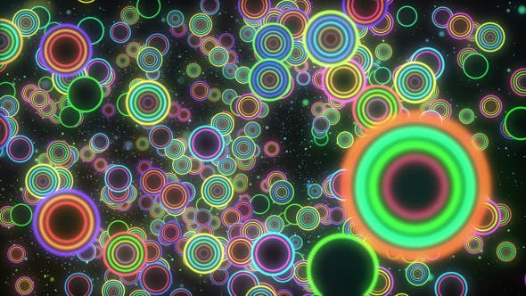 Thumbnail for VJ Colorful Circle Background