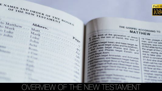 Thumbnail for Overview Of The New Testament