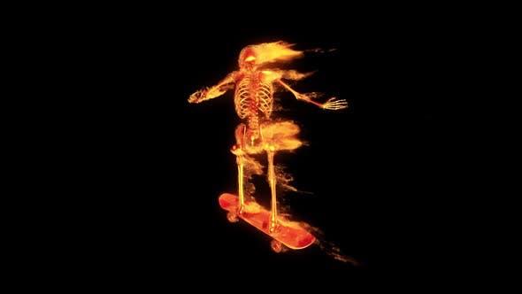 Burning 3D Skeleton - Skateboard 2