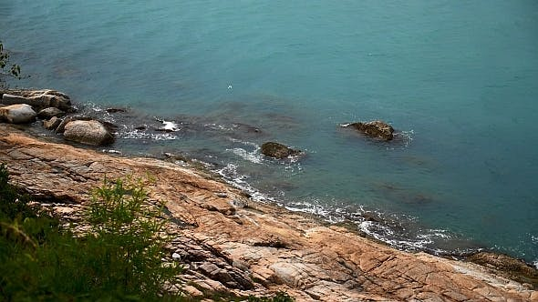 Cover Image for Rocky Shore and Blue Sea