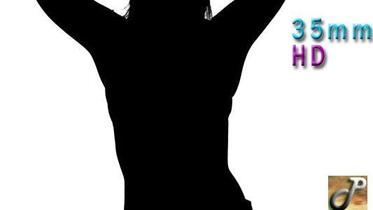 Silhouette Sexy Tänzerin mit Rock