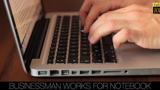 Cover Image for Businessman Works For Notebook