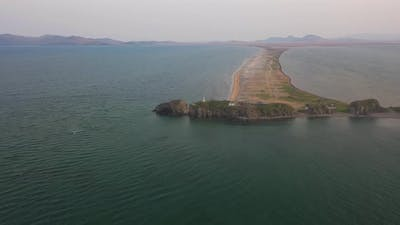 Aerial View of the Nazimov Sand Spit Russia