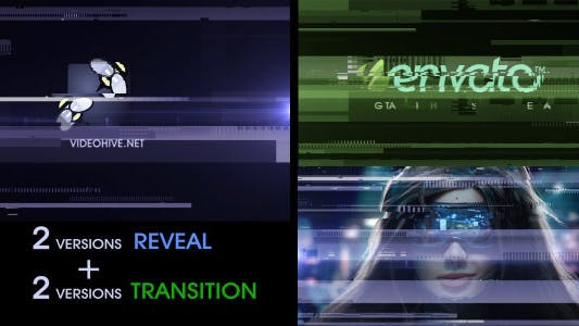 Thumbnail for Digital Glitch Reveal and Transition