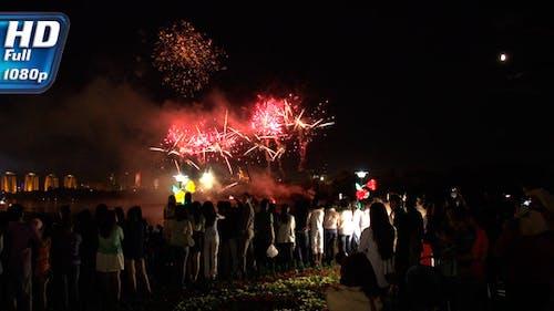 Spectators Fireworks