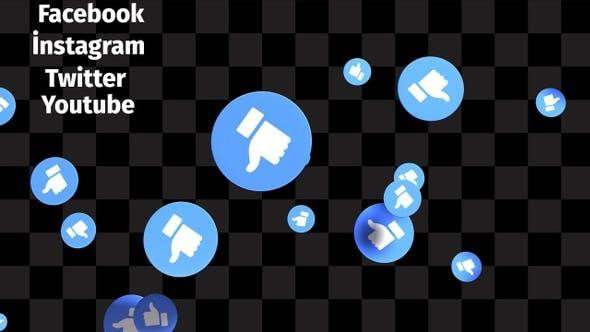 Thumbnail for Social Media Likes Transition Pack