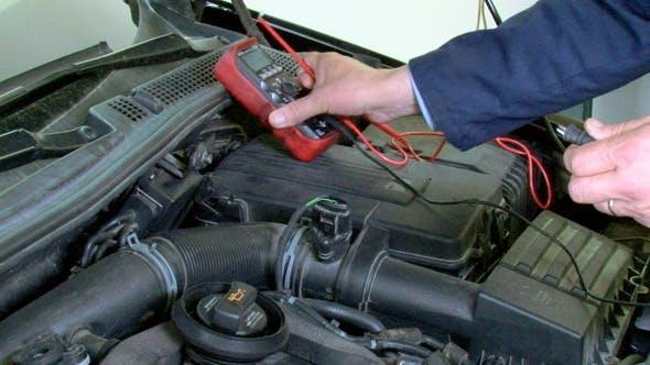 Thumbnail for Car Repair Voltmeter Checking