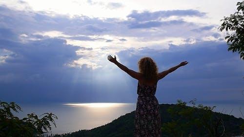 Woman Reaching The Top