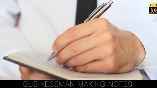 Thumbnail for Businessman Making Notes 2