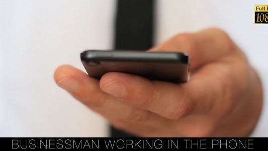 Cover Image for Businessman Working In The Phone