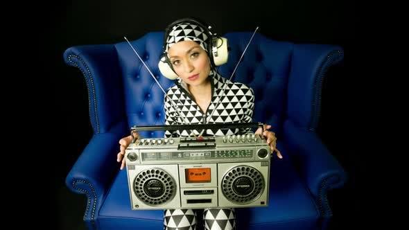 Thumbnail for Ghettoblaster cute female sexy music disco club lifestyle