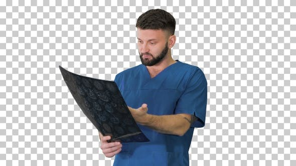 Thumbnail for Medical Scientist surprised looking at, Alpha Channel