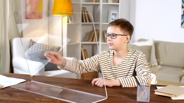 Thumbnail for Boy Using Invisible AR Computer Display