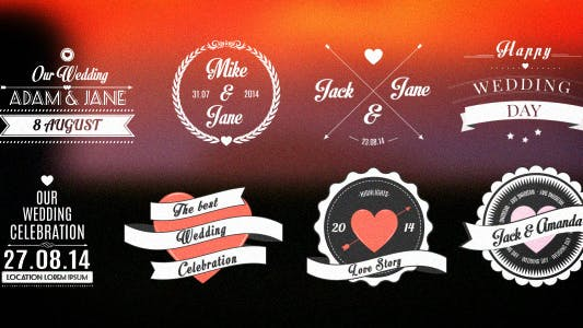 Thumbnail for Wedding/Romantic Titles Pack