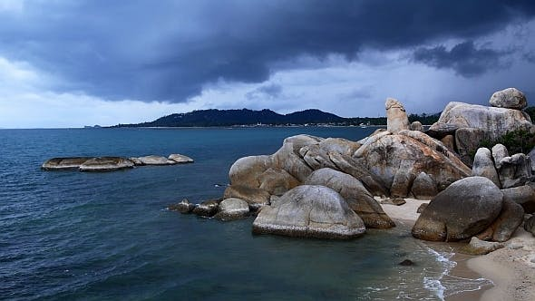 Thumbnail for Tropical Rocky Beach before Storm