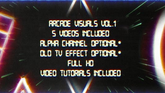 Retro Arcade Visuals Vol.1
