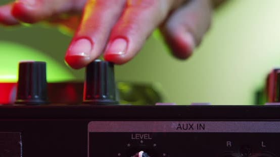 Thumbnail for Hands of DJ Tweak Various Track Controls on Djs Deck 23B
