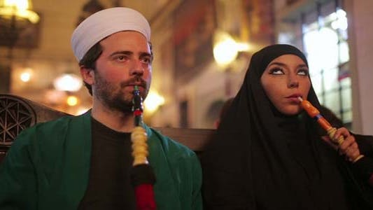 Thumbnail for Portrait of Islamic Couple, Smoking Shisha