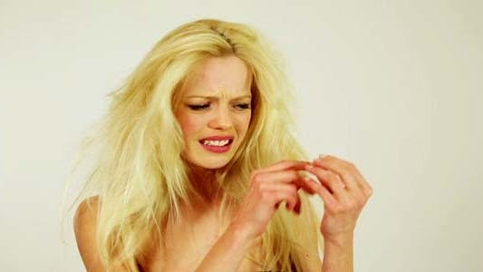 Thumbnail for Unhealthy Hair Of Unhappy Young Woman 3