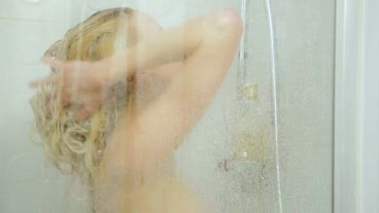 Thumbnail for Gorgeous Sexy Woman Washing Hair With Shampoo 4