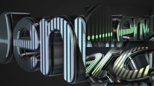 3D LED Logo Equalizer