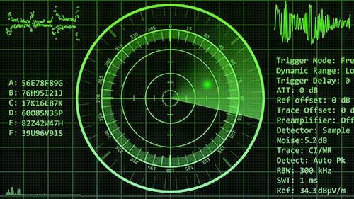 Radar Display Screen