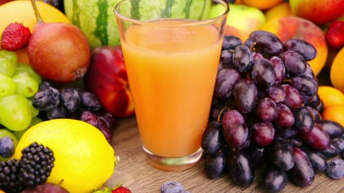 Fruits and Berries and Juice