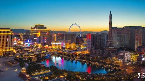 Las Vegas Night to Day