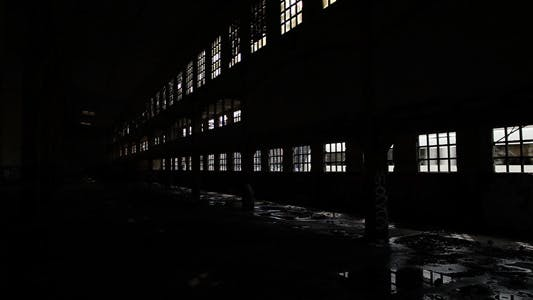 Thumbnail for Train Passing Out Of Deserted Factory