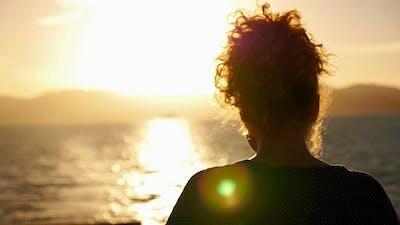 Dreaming against Impressive Sunset