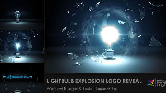 Light Bulb Explosion Logo Reveal