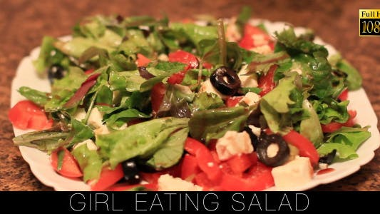 Cover Image for Girl Eating Salad