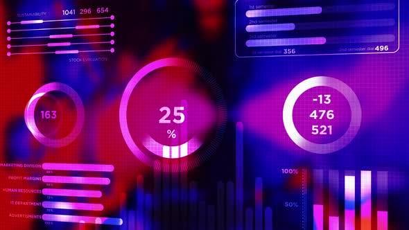 Company Data and Info Charts and Bars