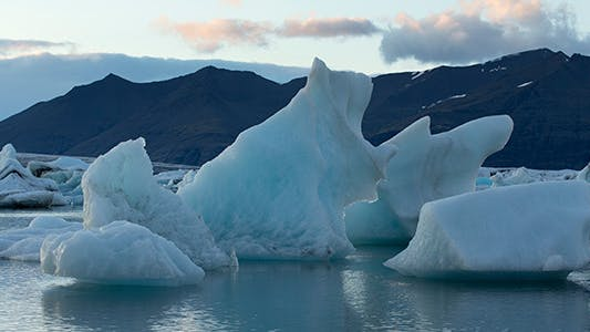 Thumbnail for Floating Icebergs in Glacier Lagoon Iceland