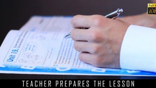 Teacher Prepares The Lesson