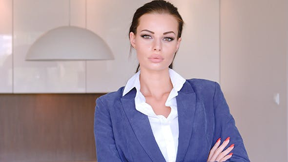 Thumbnail for Beautiful Stylish Young Businesswoman Standing