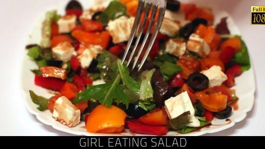 Thumbnail for Girl Eating Salad 3