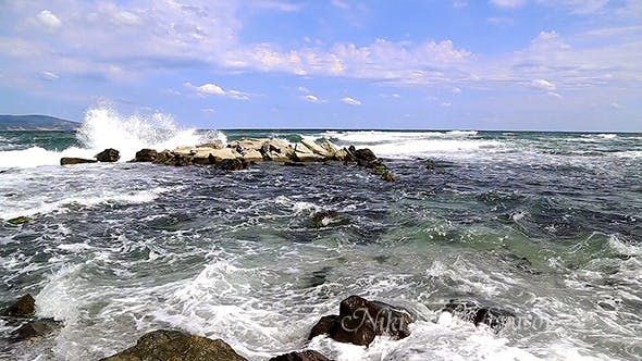 Thumbnail for Waves on  the Rocky Beach