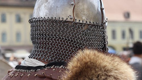 Helmet with Chain Mail