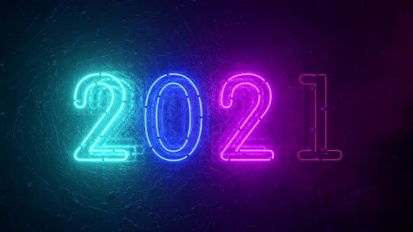 Thumbnail for 2021 Neon Sign Background New Year Concept