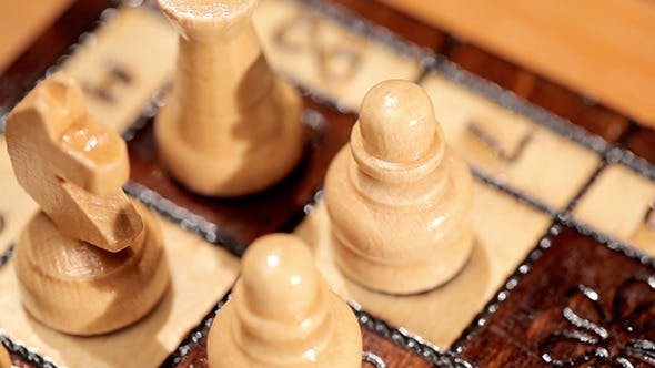 Thumbnail for Close Up Chess Pieces On A Board