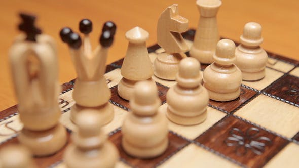 Cover Image for Chess Game At Begining White Pieces
