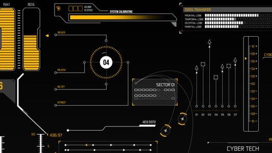 Éléments infographiques HUD