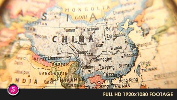 Thumbnail for Globe through magnify glass 25