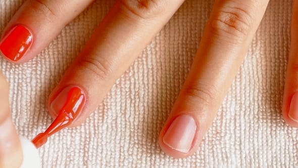 Homemade Manicure Process.
